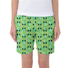 Alien Pattern Women s Basketball Shorts