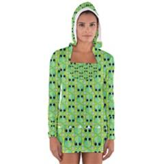 Alien Pattern Women s Long Sleeve Hooded T Shirt