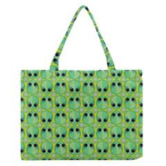 Alien Pattern Medium Zipper Tote Bag