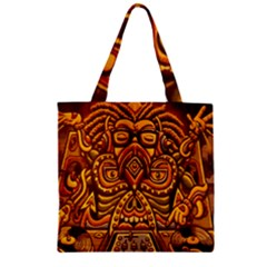 Alien Dj Zipper Grocery Tote Bag by BangZart