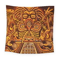 Alien Dj Square Tapestry (large) by BangZart