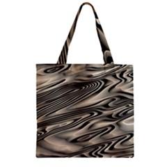 Alien Planet Surface Zipper Grocery Tote Bag