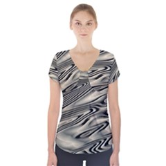 Alien Planet Surface Short Sleeve Front Detail Top