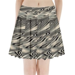 Alien Planet Surface Pleated Mini Skirt