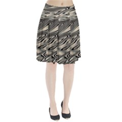 Alien Planet Surface Pleated Skirt