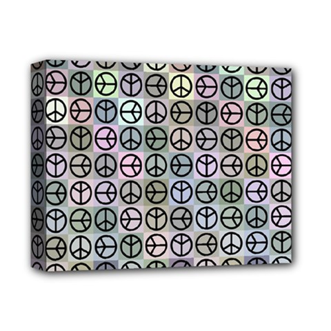 Peace Pattern Deluxe Canvas 14  X 11  by BangZart