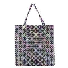 Peace Pattern Grocery Tote Bag by BangZart