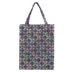 Peace Pattern Classic Tote Bag by BangZart