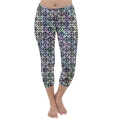 Peace Pattern Capri Winter Leggings