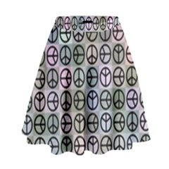 Peace Pattern High Waist Skirt by BangZart