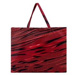 Alien Sine Pattern Zipper Large Tote Bag