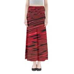 Alien Sine Pattern Full Length Maxi Skirt