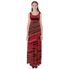 Alien Sine Pattern Empire Waist Maxi Dress