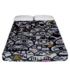 Alien Crowd Pattern Fitted Sheet (king Size) by BangZart