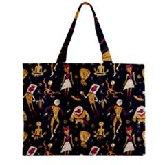 Alien Surface Pattern Zipper Mini Tote Bag by BangZart