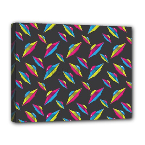 Alien Patterns Vector Graphic Canvas 14  X 11  by BangZart