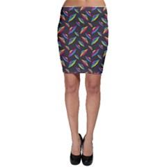 Alien Patterns Vector Graphic Bodycon Skirt by BangZart