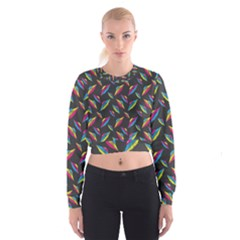 Alien Patterns Vector Graphic Cropped Sweatshirt