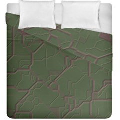 Alien Wires Texture Duvet Cover Double Side (king Size) by BangZart