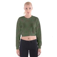 Alien Wires Texture Cropped Sweatshirt