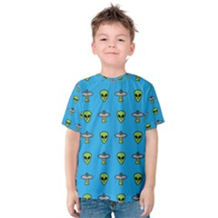Alien Pattern Kids  Cotton Tee