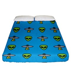 Alien Pattern Fitted Sheet (queen Size) by BangZart