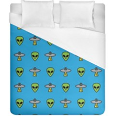 Alien Pattern Duvet Cover (california King Size) by BangZart