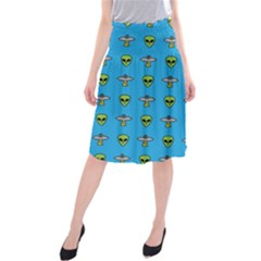 Alien Pattern Midi Beach Skirt