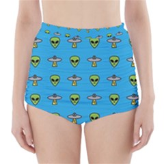 Alien Pattern High Waisted Bikini Bottoms