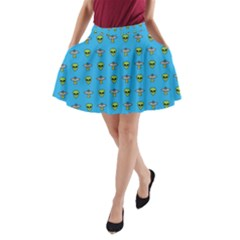 Alien Pattern A Line Pocket Skirt