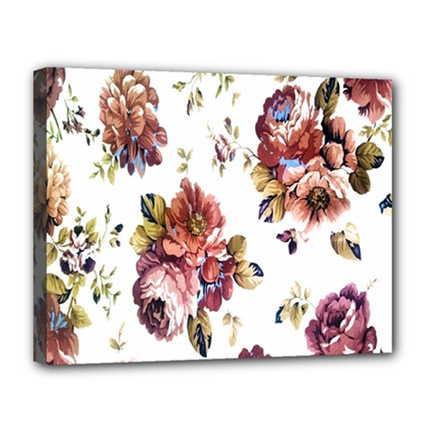 Texture Pattern Fabric Design Canvas 14  X 11  by BangZart