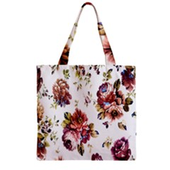 Texture Pattern Fabric Design Zipper Grocery Tote Bag by BangZart