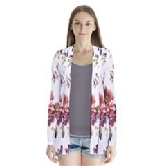 Texture Pattern Fabric Design Drape Collar Cardigan