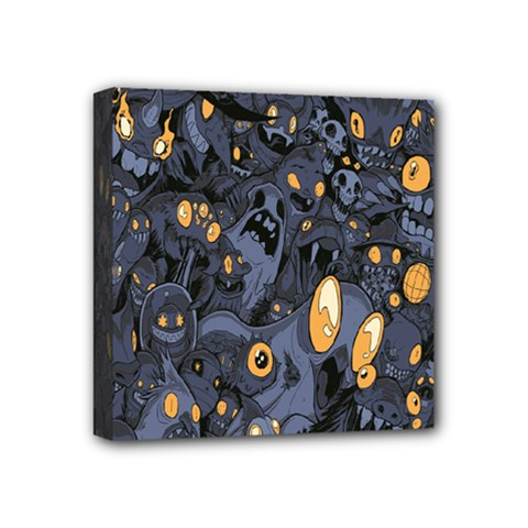 Monster Cover Pattern Mini Canvas 4  X 4  by BangZart