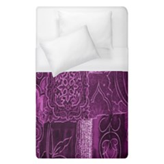 Purple Background Patchwork Flowers Duvet Cover (single Size) by BangZart