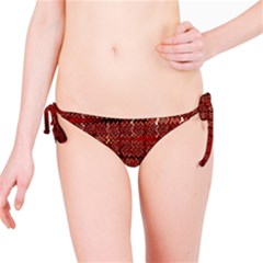 Rust Red Zig Zag Pattern Bikini Bottom