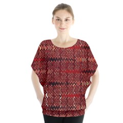 Rust Red Zig Zag Pattern Blouse