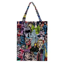 Vintage Horror Collage Pattern Classic Tote Bag