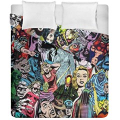 Vintage Horror Collage Pattern Duvet Cover Double Side (california King Size)