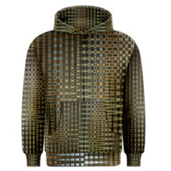 Background Colors Of Green And Gold In A Wave Form Men s Zipper Hoodie