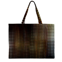 Background Colors Of Green And Gold In A Wave Form Zipper Mini Tote Bag by BangZart
