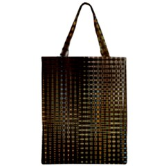 Background Colors Of Green And Gold In A Wave Form Zipper Classic Tote Bag