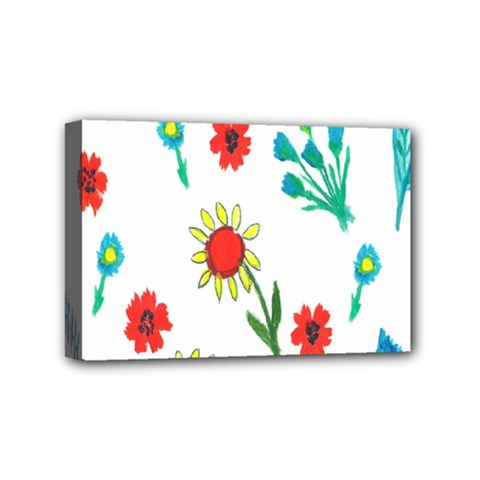 Flowers Fabric Design Mini Canvas 6  X 4