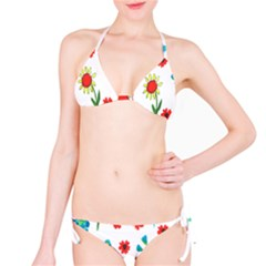 Flowers Fabric Design Bikini Set