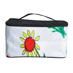 Flowers Fabric Design Cosmetic Storage Case by BangZart
