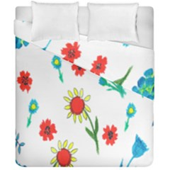 Flowers Fabric Design Duvet Cover Double Side (california King Size)