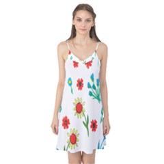 Flowers Fabric Design Camis Nightgown
