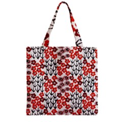 Simple Japanese Patterns Zipper Grocery Tote Bag by BangZart