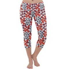 Simple Japanese Patterns Capri Yoga Leggings