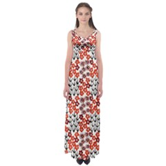 Simple Japanese Patterns Empire Waist Maxi Dress